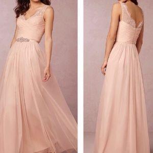 BHLDN Fleur Dress, Blush, Size 4. Belt optional.